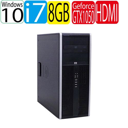 HP 8300 MT Core i7-3770 メモリ8GB HDD500GB DVDマルチドライブ Geforce GTX1050 Windows10 Pro 64Bit USB3.0対応 中古ゲーミングpc 中古デスクトップ 0953XR