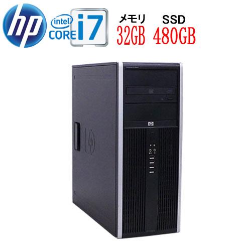 HP8300MT Core i7 3770 3.4GB メモリ32GB 高速新品SSD512GB DVDマルチ Windows10 Pro 64bit 0955a-2R 中古 中古パソコン デスクトップ