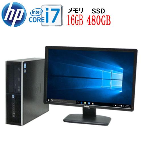 Windows10 64bit Core i7 3770 3.4GHz メモリ16GB 高速新品SSD512GB DVDマルチ HP 6300sf フルHD 23型ワイド液晶 ディスプレイ WPS Office付き USB3.0対応 中古パソコン デスクトップ 1586sR