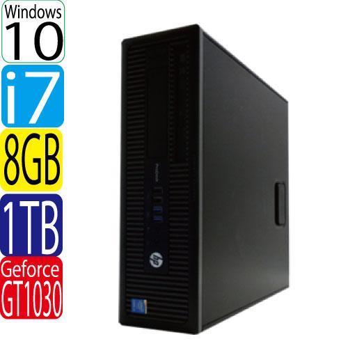 HP ProDesk 600 G1 SF Core i7 4790 3.6GHz メモリ8GB HDD1TB DVDマルチ Windows10 Pro 64bit GeForce GT1030 HDMI WPS Office付き USB3.0対応 中古 中古パソコン デスクトップ 1623g-mar-R