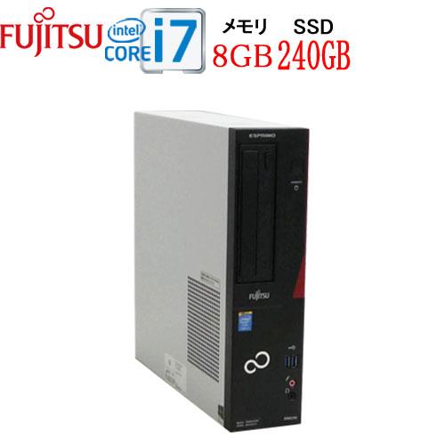富士通 FMV-D583 Core i7 4770(3.4Ghz) メモリ8GB 高速新品SSD256GB DVD±R RW WPS Office付き Windows10Pro 64bit 中古パソコン デスクトップ 1644a-mar-R