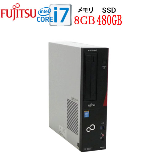 富士通 FMV-D583 Core i7 4770(3.4Ghz) メモリ8GB 高速新品SSD512GB DVD±R RW WPS Office付き Windows10Pro 64bit(MAR) 1644a5-mar-R 中古 中古パソコン デスクトップ