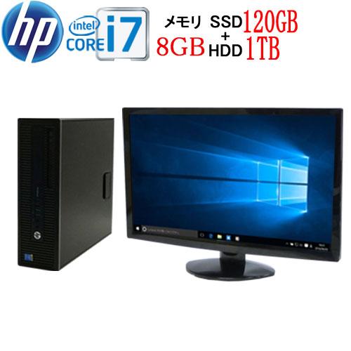 エントリーしてカード決済がお得!ポイント最大8倍! HP 600 G1 SF Core i7 4790 メモリ8GB 高速SSD120GB + HDD1TB DVDマルチ Windows10 Pro 64bit WPS Office付き USB3.0対応 フルHD 23型ワイド液晶 ディスプレイ 中古 中古パソコン デスクトップ 1658s9-mar-R