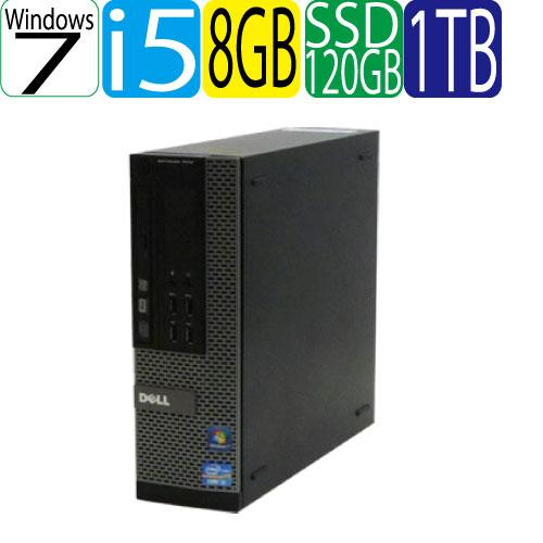 24時間限定!エントリー&カード決済で全品ポイント14倍!4/1から 爆速SSD120GB + HDD1TB DELL 7010SF Core i5 3470(3.2GHz) メモリ8GB DVDマルチドライブ WPS Office付き 64Bit Windows7Pro R-d-340-1 USB3.0対応 中古 中古パソコン デスクトップ