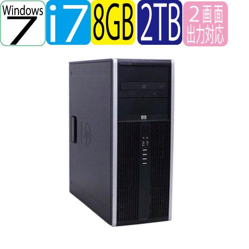 HP Core 8300MT Core i7-3770 3.4Gメモリ8GB HP HDD新品2TB DVDマルチ Windows7Pro DVDマルチ 64bit USB3.0対応 中古 中古パソコン デスクトップ R-d-446, comme billet<コムビエ>:5a6149f5 --- data.gd.no