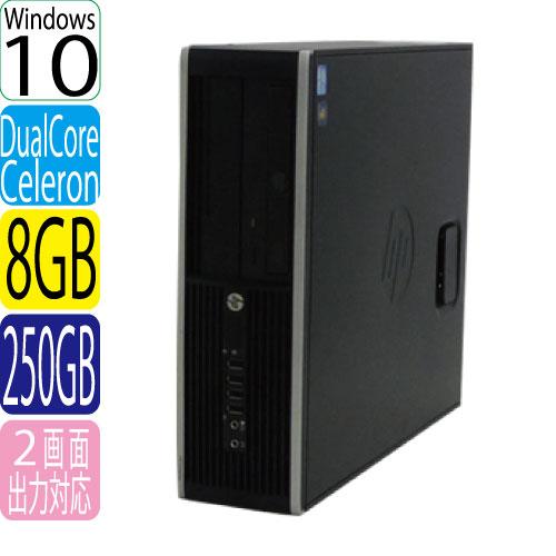24時間限定!エントリー&カード決済で全品ポイント14倍!4/1から HP 6300SF Celeron Dual-Core G1610 2.60GHz メモリ8GB HDD250GB DVD-ROM Windows10 Home 64bit USB3.0対応 中古パソコン デスクトップ 0559aR