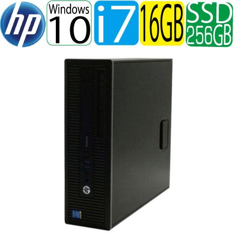 HP ProDesk 600 G1 SF Core i7 4790(3.6GHz) 大容量メモリ16GB 高速SSD新品256GB DVDマルチ Windows10 Pro 64bit WPS Office付き USB3.0対応 中古 中古パソコン デスクトップ 1623a6-mar-R