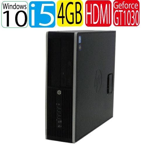 Windows10 Home 64bit HP 6300sf Core i5 3470(3.2GHz) メモリ4GB HDD250GB 新品GeForceGT1030(HDMI内蔵) 中古 中古パソコン デスクトップ 1529a-2R