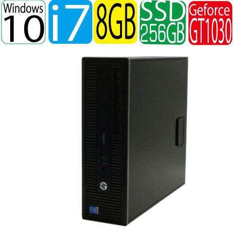 HP ProDesk 600 G1 SF Core i7 4790 3.6GHz メモリ8GB 高速新品SSD256GB DVDマルチ Windows10 Pro 64bit GeForce GT1030 HDMI WPS Office付き USB3.0対応 中古 中古パソコン デスクトップ 1623g2-mar-R