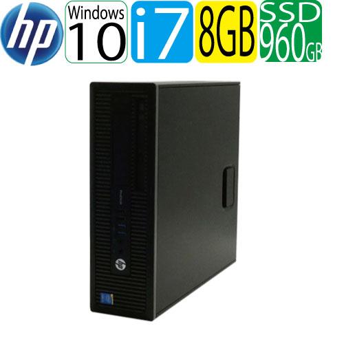 エントリーしてカード決済がお得!ポイント最大11倍!HP ProDesk 600 G1 SF Core i7 4790(3.6GHz) メモリ8GB 高速SSD新品960GB DVDマルチ Windows10 Pro 64bit WPS Office付き USB3.0対応 中古 中古パソコン デスクトップ 1464a-marR