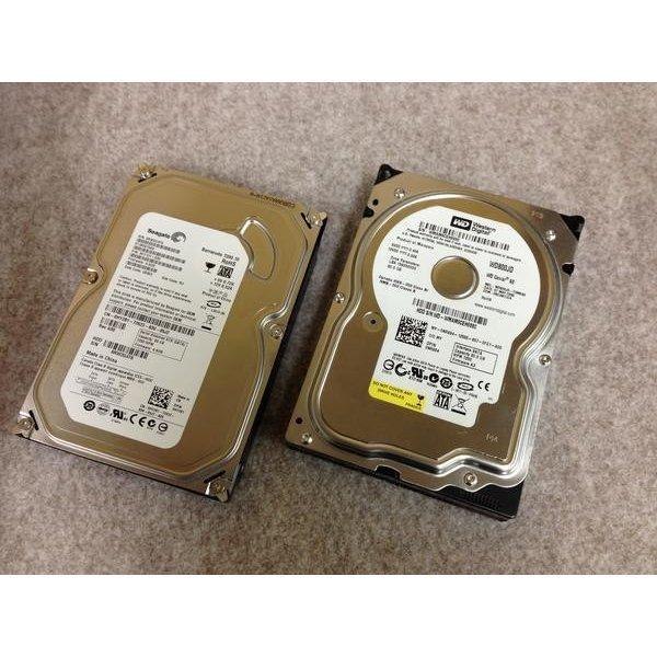 中古パソコンパーツ 3.5inch SATA HDD 500GB 代引き不可 ハードディスク 内蔵 ブランド激安セール会場 2台セット HDD-500gb-2 スーパーSALE 製など Seagate westerndigital 中古PCパーツ ポイントアップ 10249457 2台 キャンペーン 3.5インチ
