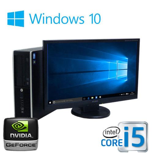 中古パソコン デスクトップ HP 6300SF Core i5 3470 3.2GHz メモリ16GB HDD500GB DVDマルチ GeForceGT730 1GB HDMI Windows10 Pro 64Bit(MAR) 23型ワイド液晶 ディスプレイ フルHD対応 /1584GR /USB3.0対応 /中古