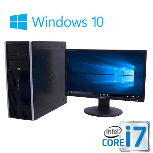 中古パソコン デスクトップ HP 8300MT Core i7 3770 3.4G 大容量メモリ16GB HDD500GB DVDマルチ Windows10 Pro 64bit 22型ワイド液晶 ディスプレイ 0939sR USB3.0対応 中古