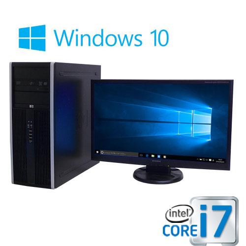 中古パソコン デスクトップ HP 8300MT Core i7 3770 3.4G 大容量メモリ16GB HDD新品2TB DVDマルチ Windows10 Pro 64bit 23型ワイド液晶 ディスプレイ フルHD対応 0950sR USB3.0対応 中古