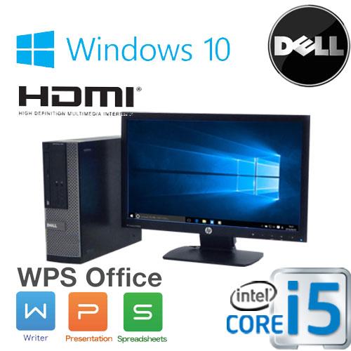 中古パソコン デスクトップ DELL Optiplex 3010SF 20型 ワイド液晶 ディスプレイ Core i5 3470(3.2GHz) メモリ4GB HDD500GB DVD-ROM HDMI WPS Office付き Windows10 Home 64bit(MAR) /1626sR /中古