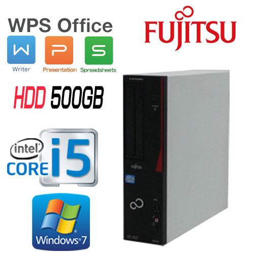 中古パソコン デスクトップ Windows7Pro 64Bit 富士通 FMV d582 Core i5 3470(3.2GHz) メモリ4GB HDD500GB DVD-ROM WPS Office付き USB3.0対応 中古 0252a-2R