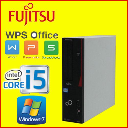 中古パソコン デスクトップ Windows7Pro 64Bit 富士通 FMV d582 Core i5 3470(3.2GHz) メモリ16GB HDD500GB DVD-ROM WPS Office付き 1661a2-R USB3.0対応 中古