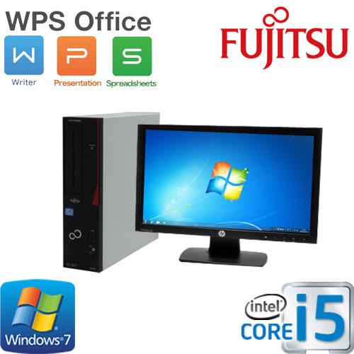 中古パソコン デスクトップ Windows7Pro 64Bit 富士通 FMV d582 Core i5 3470(3.2GHz) メモリ4GB HDD250GB DVD-ROM WPS Office付き 20型ワイド液晶 ディスプレイ 1661s1-R USB3.0対応 中古