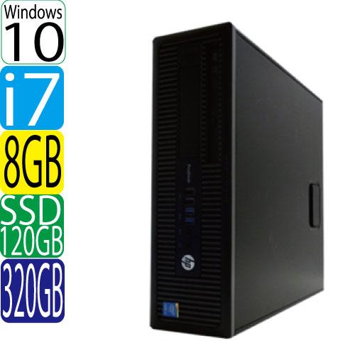 24時間限定!エントリー&カード決済で全品ポイント14倍!4/1から HP 600 G1 SF Core i7 4790 3.6GHz メモリ8GB 高速SSD新品120GB + HDD320GB DVDマルチ Windows10 Pro 64bit MAR WPS Office付き USB3.0対応 中古 中古パソコン デスクトップ 1623a2-mar-R