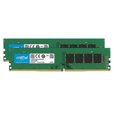 Crucial CT2K16G4DFD824A 32GBキット(16GBx2枚) PC4-19200(DDR4-2400) デスクトップ用メモリ
