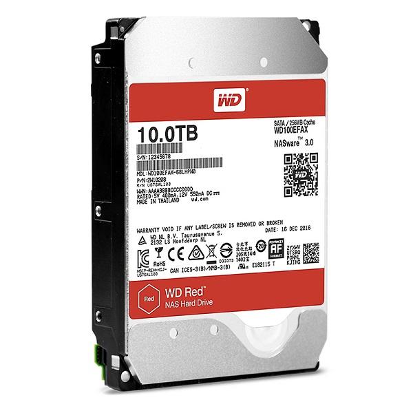 Western Digital WD100EFAX [10TB/3.5インチ内蔵ハードディスク] WD Red / SATA 6Gb/s / 5400rpm / NAS向けHDD