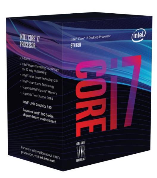 Intel Core i7 8700 (BX80684I78700) Coffee Lake (3.20-4.60GHz/6Core/12Thread/リテールBOX) LGA1151
