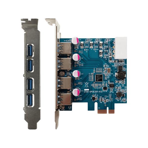 玄人志向 USB3.0RA-P4-PCIE デスクトップパソコン用USB3.0増設インターフェースボード 一部予約 x1接続 通常便なら送料無料 PCI-Express