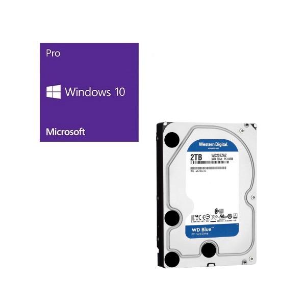 セット商品 Windows 10 バースデー 記念日 ギフト 贈物 お勧め 通販 Pro 64Bit DSP お値打ち価格で WD20EZAZ-RT Western + Digital バンドルセット