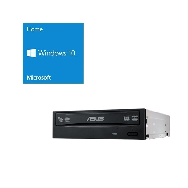 セット商品 Windows 10 Home 64Bit DSP + ASUS DRW-24D5MT バンドルセット 標準的な一般ユーザー、ご家庭向けの Home 64bit DSP版