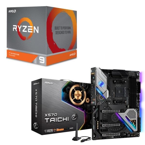 [パーツセット]AMD Ryzen 9 3900X BOX + ASRock X570 Taichi セット
