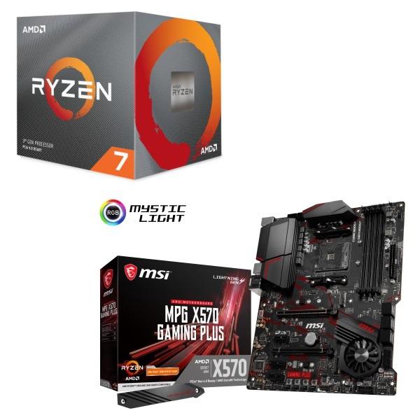 パーツセット AMD 優先配送 Ryzen 7 3700X BOX 注文後の変更キャンセル返品 + PLUS GAMING X570 MPG MSI セット