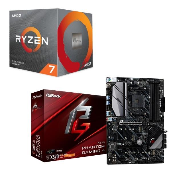 [パーツセット]AMD Ryzen 7 3700X BOX + ASRock X570 Phantom Gaming 4 セット