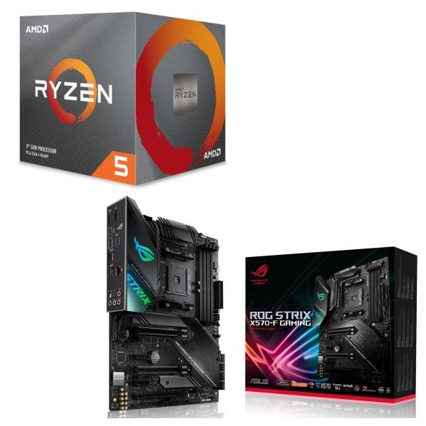 [パーツセット]AMD Ryzen 5 3600X BOX + ASUS ROG STRIX X570-F GAMING セット