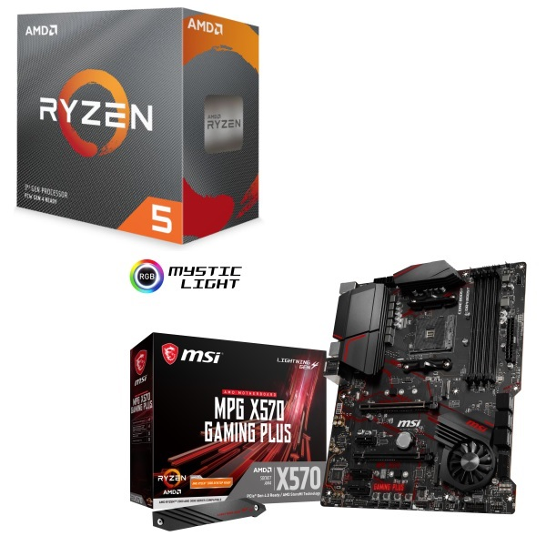 サービス パーツセット AMD Ryzen 5 3600 BOX + MPG X570 テレビで話題 セット GAMING MSI PLUS