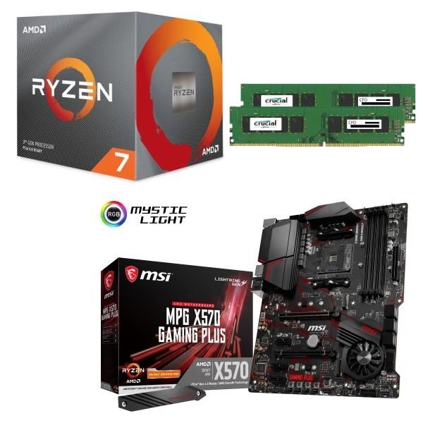 [パーツセット] AMD Ryzen 7 3700X + MSI MPG X570 GAMING PLUS + CFD W4U2666CM-8G 3点セット