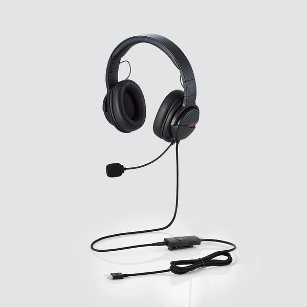 ELECOM HS-ARMA200VBK バーチャルサラウンド機能搭載 両耳オーバーヘッドタイプ ゲーミングヘッドセット