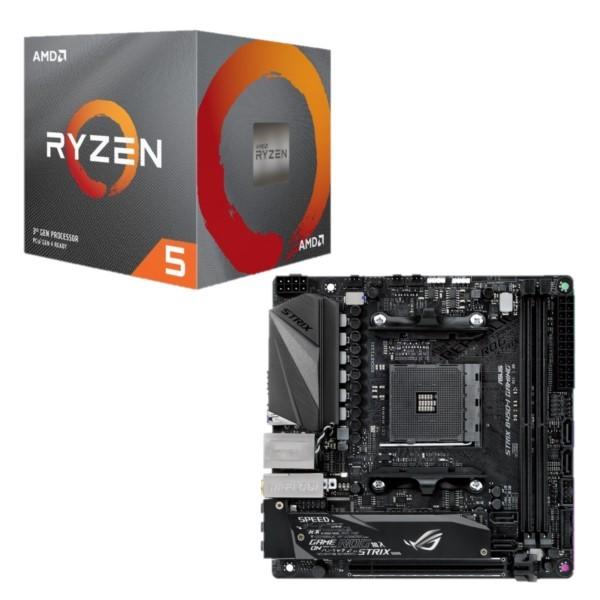 [パーツセット] AMD Ryzen 5 3600X BOX + ASUS ROG STRIX B450-I GAMING セット