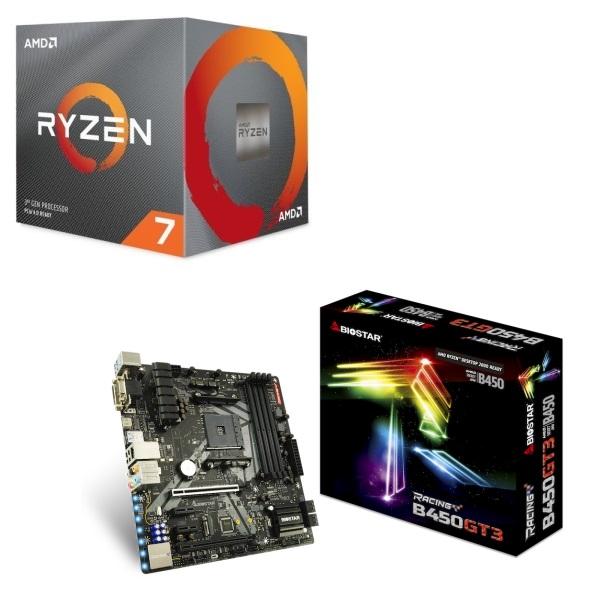 [パーツセット] AMD Ryzen 7 3700X BOX + BIOSTAR MicroATXマザーボード B450GT3 セット
