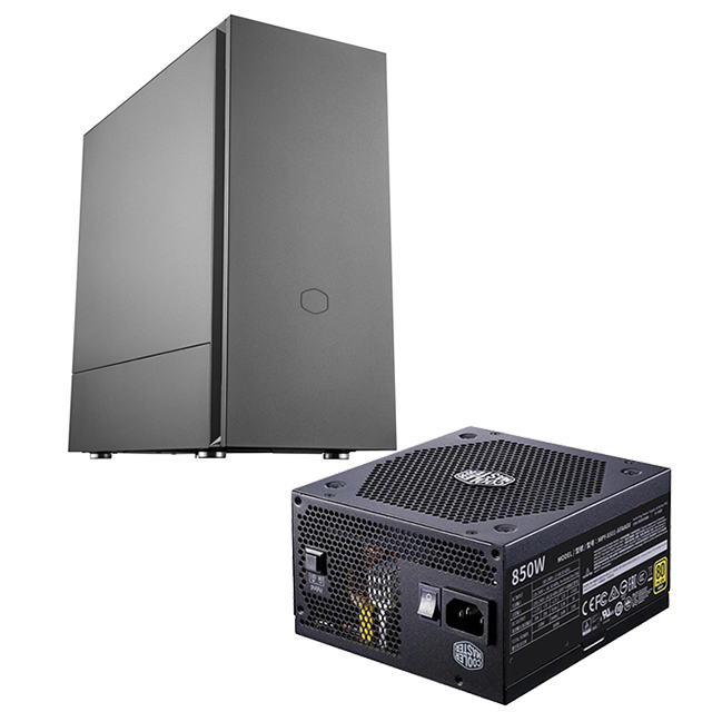 [PCケース+電源セット] Cooler Master Silencio S600 MCS-S600-KN5N-S00 + V850 GOLD MPY-8501-AFAAGV-JP 2点セット