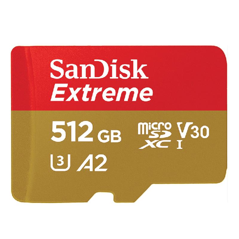 SanDisk SDSQXA1-512G-GN6MN 512GB microSDXCカード Class 10 店内全品対象 新色追加して再販 海外パッケージ品 Extremeシリーズ