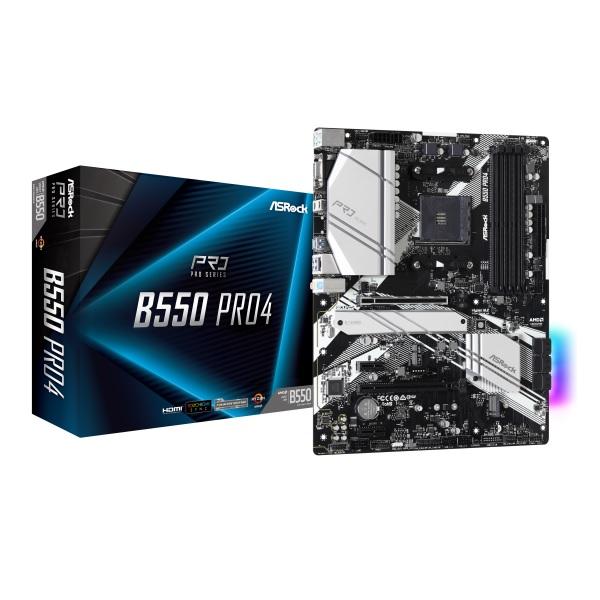 ASRock B550 Pro4 AMD B550チップセット搭載 ATXマザーボード