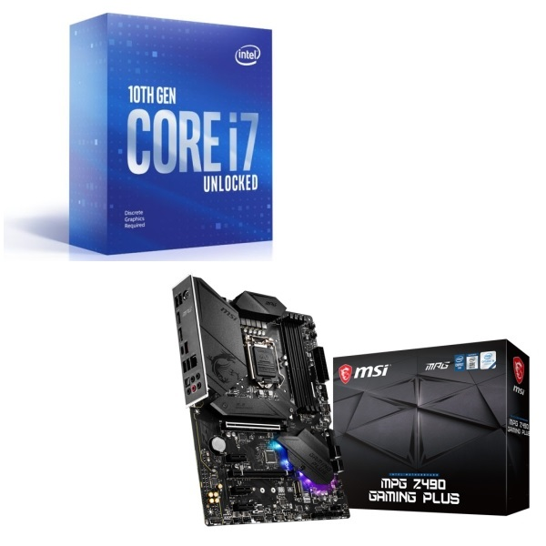 魅了 [パーツセット] Intel Core i7 10700KF BOX + MSI MPG Z490 GAMING PLUS セット, Roger a7b1489f