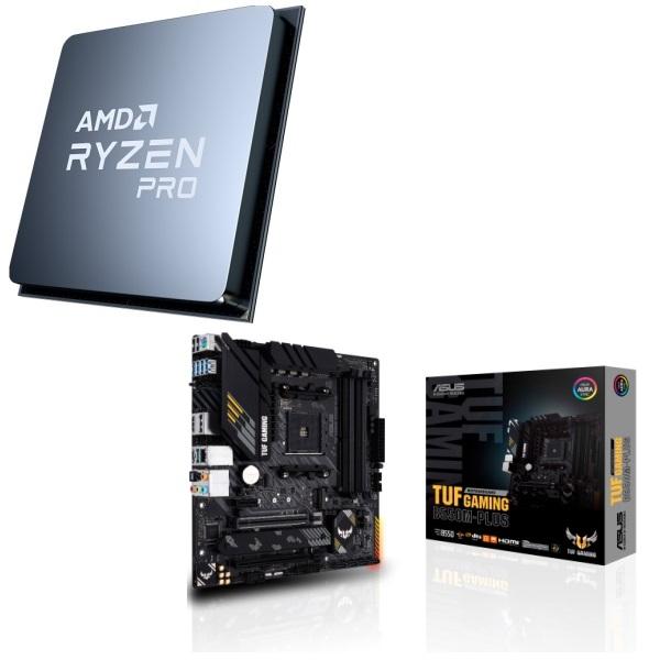 パーツセット AMD Ryzen 5 PRO 4650G ASUS + 安全 2点セット GAMING B550M-PLUS 大放出セール TUF