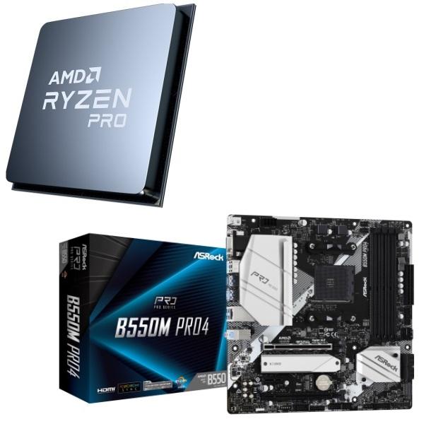 100%品質保証! パーツセット AMD Ryzen セール特別価格 5 PRO 4650G Pro4 ASRock B550M 2点セット +
