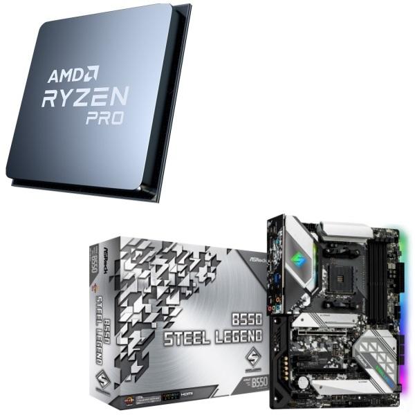 パーツセット AMD Ryzen 7 PRO 4750G Steel 超安い 2点セット ASRock 上品 B550 + Legend
