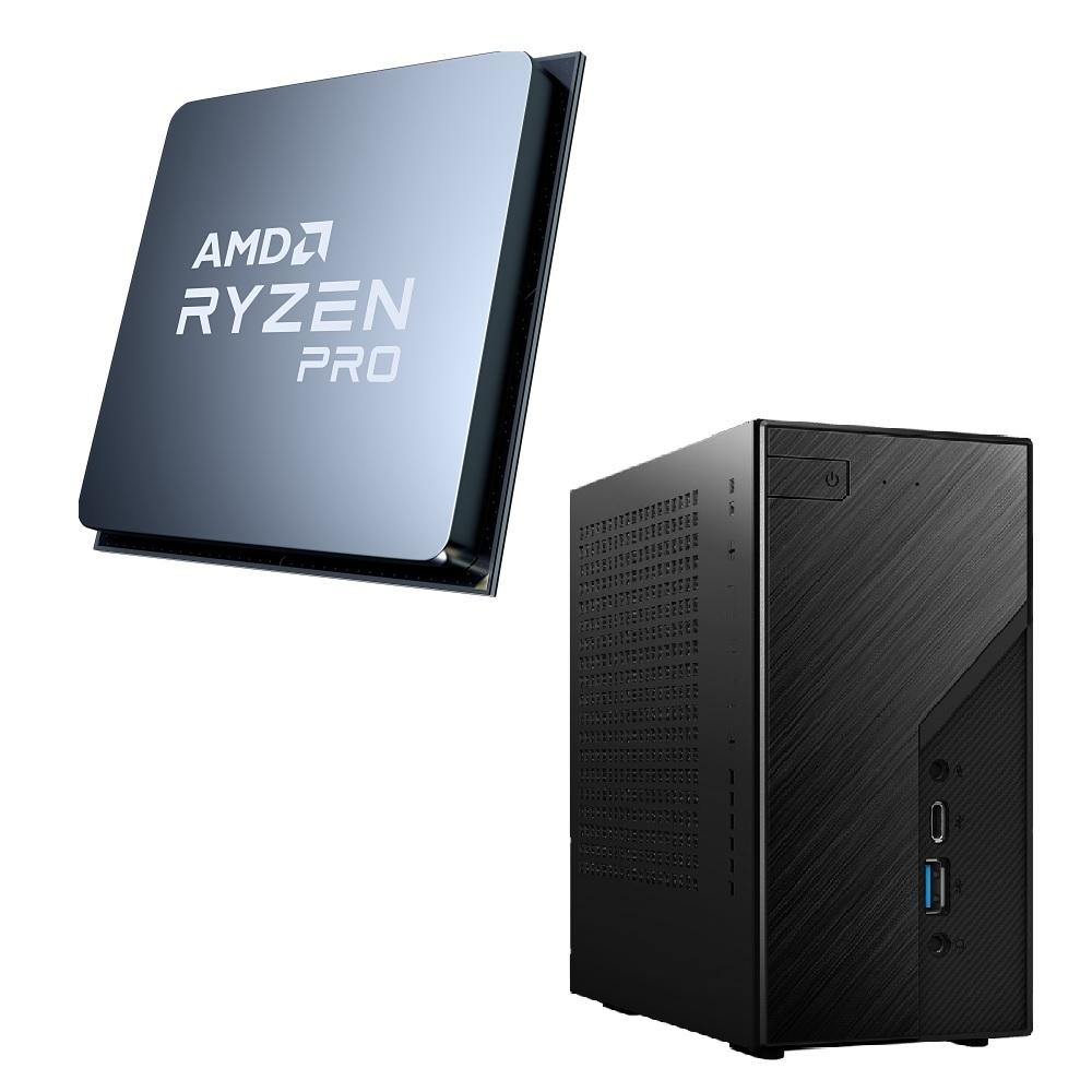 パーツセット AMD Ryzen 7 PRO 4750G + CPU スモールPCを作ろう X300 セット おしゃれ 直営限定アウトレット 小型ベアボーン DeskMini