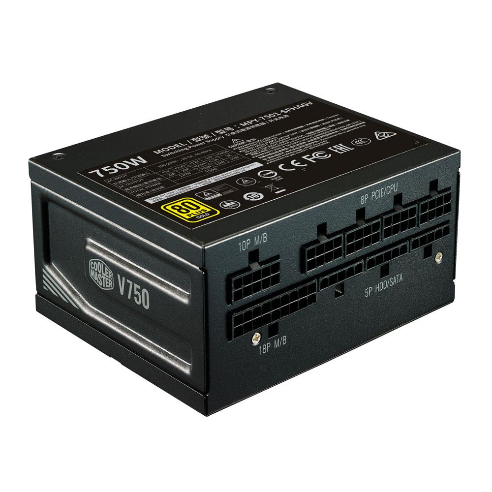 COOLER 750W V 750W電源ユニット PLUS SFX SFX フルモジュラー 80 MASTER セミファンレス (MPY-7501-SFHAGV-JP) GOLD 認証 Gold