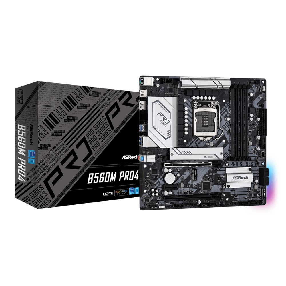 ASRock B560M Pro4 Intel B560チップセット搭載microATXマザーボード 低価格化 第11 10世代Coreプロセッサー対応 ショップ