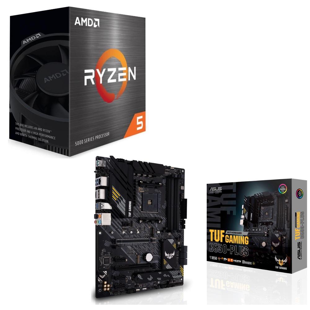 定価 パーツセット AMD Ryzen 5 5600X BOX TUF GAMING ラッピング無料 ASUS + B550-PLUS セット