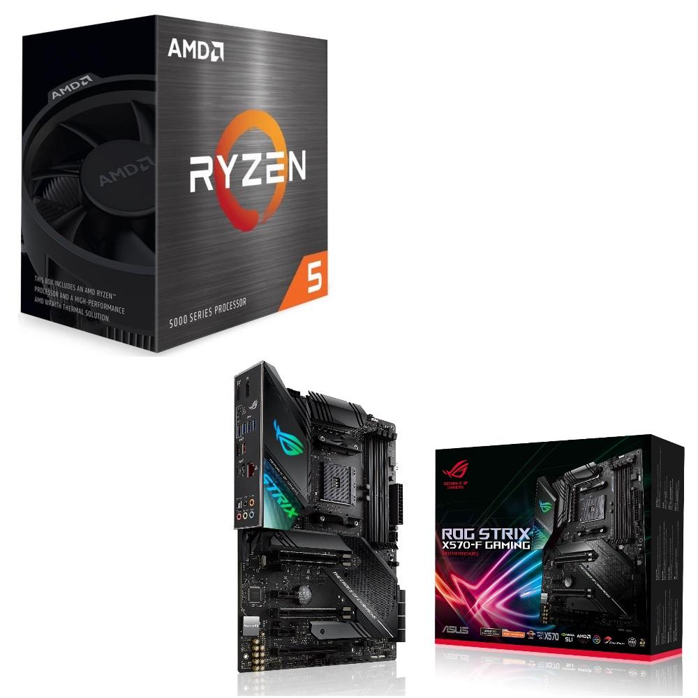 パーツセット AMD Ryzen 5 5600X BOX + セット ファクトリーアウトレット ROG X570-F ASUS STRIX スーパーセール期間限定 GAMING